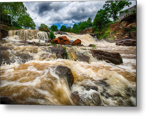 Falls Metal Print featuring the photograph High Water At Falls Park by Scott Koegler