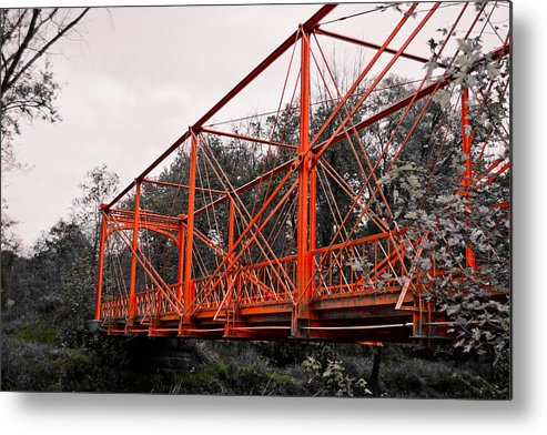Bridges Metal Print featuring the photograph Hiking Trail by Melinda Pettery