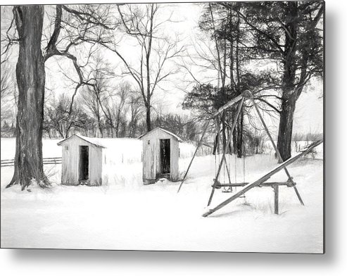 Charcoal Metal Print featuring the photograph His And Hers - Charcoal by Chris Bordeleau