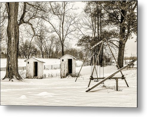 Landscape Metal Print featuring the photograph His And Hers by Chris Bordeleau