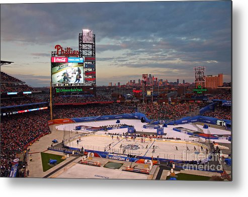 Hockey Metal Print featuring the photograph Hockey At The Ballpark by David Rucker
