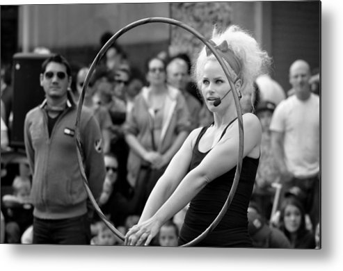 Hoola. Hoop Metal Print featuring the photograph Hoola by Tracy Bennett