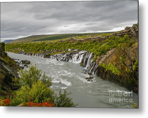 Big Metal Print featuring the photograph Hraunfossar Waterfall In Iceland by Patricia Hofmeester