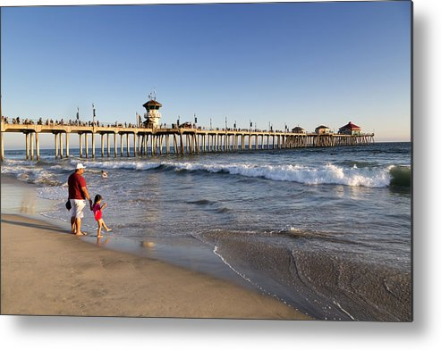 Huntington Metal Print featuring the photograph Huntington Beach by Carol M Highsmith