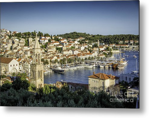 Croatia Metal Print featuring the photograph Hvar Overlook by Timothy Hacker