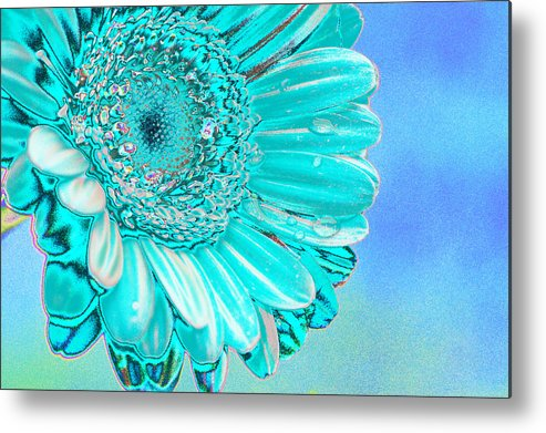 Blue Metal Print featuring the digital art Ice Blue by Carol Lynch