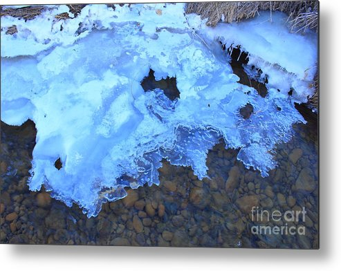 Ice Formation Metal Print featuring the photograph Ice Formation by Kevin Deadman