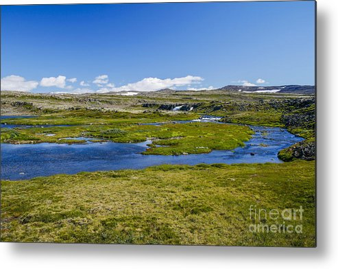 Cold Metal Print featuring the photograph Iceland Panorama by Patricia Hofmeester