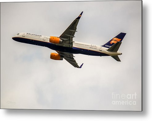 Iceland Air Metal Print featuring the photograph Icelandair Boeing 757 by Rene Triay Photography
