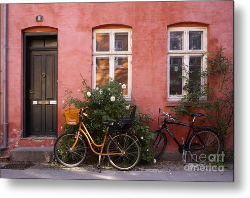 House Metal Print featuring the photograph Idylic Copenhagen by Inge Riis McDonald