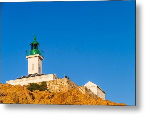 Balagne Metal Print featuring the photograph Ile Rousse Lighthouse In Corsica by Jon Ingall