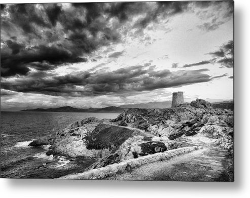 Background Metal Print featuring the photograph Ile Rousse Tower by Jon Ingall