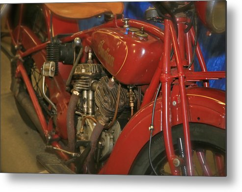 Indian Motorcycle Metal Print featuring the photograph Indian Classic by Rich Tanguay