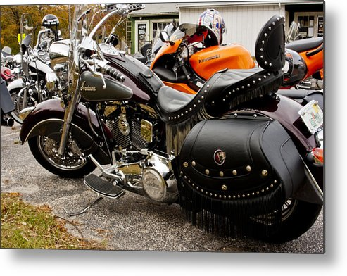 Transportation Metal Print featuring the photograph Indian Motorcycle by Dennis Coates