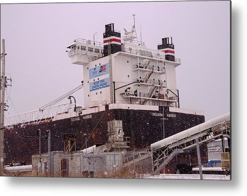 Indiana Harbor Metal Print featuring the photograph Indiana Harbor 1 by Susan McMenamin