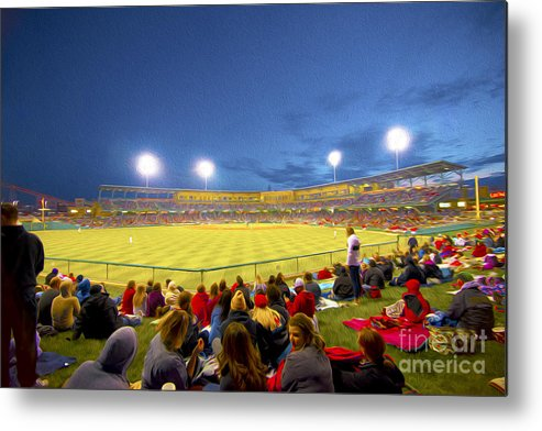 Victory Field Metal Print featuring the photograph Indianapolis Indians by David Haskett