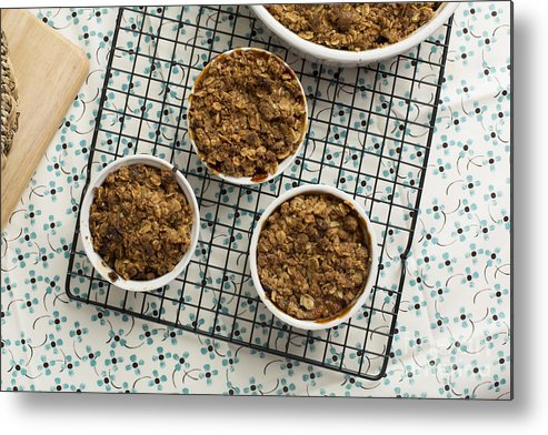 Sweets Metal Print featuring the photograph Individual Apple Crumble by Charlotte Lake