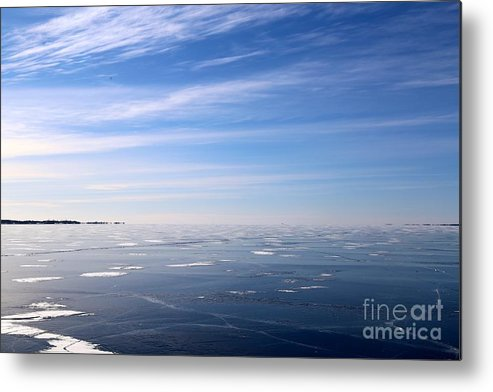Snow Metal Print featuring the photograph Infinity by Jonas Lewis-Anthony