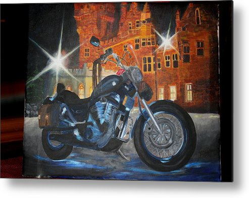 Suzuki Metal Print featuring the painting Intruder In Blue by Frankie Picasso