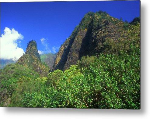 Hawaii Metal Print featuring the photograph Io Needle And Valley Maui Hawaii by John Burk