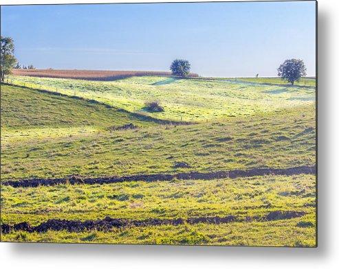 Landscape Metal Print featuring the photograph Iowa Farm Land #1 by Pete Hendley