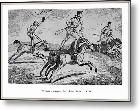 Metal Print featuring the drawing Irish Tartar Circa 1758 by Thomas Johnson