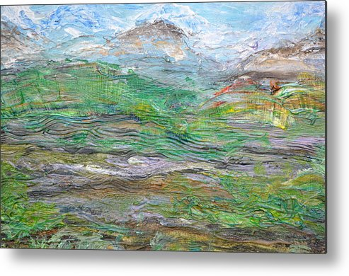 Mountains Metal Print featuring the painting Iron Hills by Regina Valluzzi