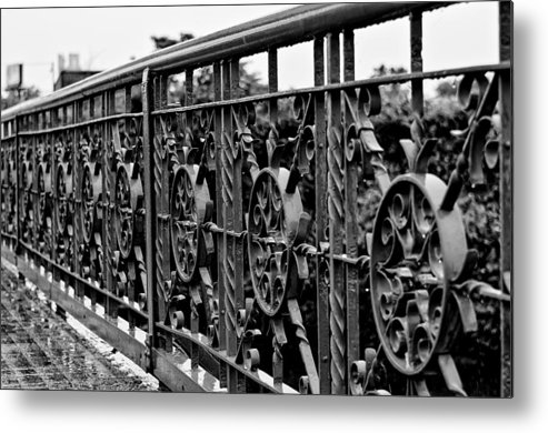Bridge Metal Print featuring the photograph Iron Work by Louis Dallara