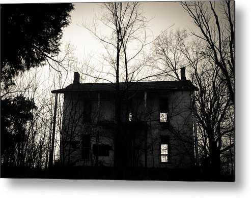 Abandoned Metal Print featuring the photograph Is Anybody Home by Off The Beaten Path Photography - Andrew Alexander