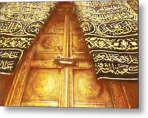 Islamic Metal Print featuring the painting Islamic Painting 008 by Catf
