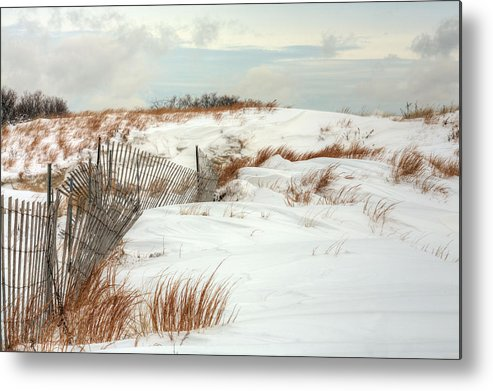 Jones Beach Metal Print featuring the photograph Island Snow by JC Findley