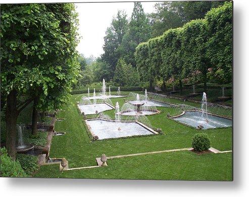 Fountain Metal Print featuring the photograph Italian Water Garden by Barbara McDevitt