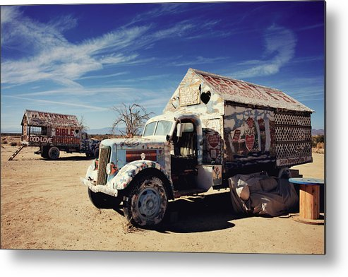 Salvation Mountain Metal Print featuring the photograph It's All About Love by Laurie Search