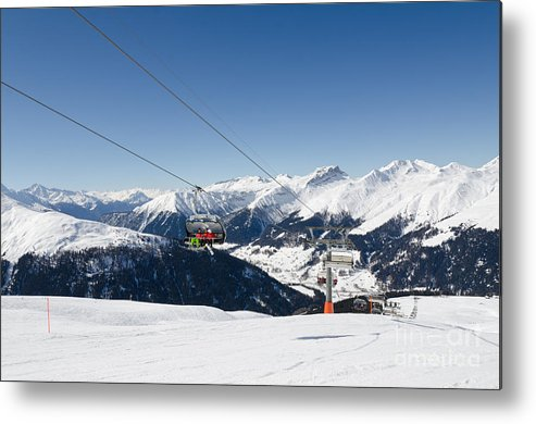 Davos Metal Print featuring the photograph Jatz Jakobshorn Davos Mountains Piste by Andy Smy