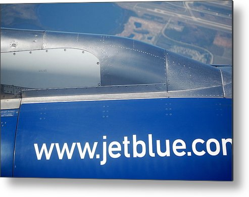 Airplane Metal Print featuring the photograph Jet Blue Airline by Linda Rae Cuthbertson