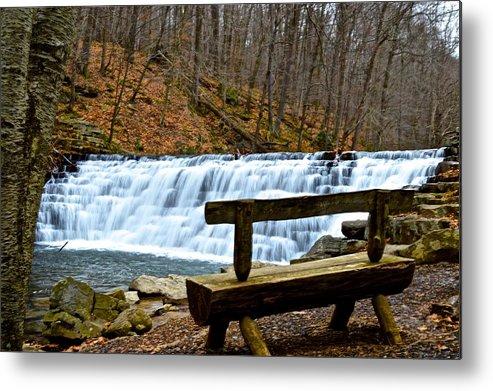 Pennsylvania Metal Print featuring the photograph Jones Mill Run Dam Relaxing View by Jake Donaldson