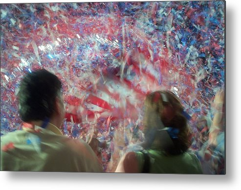 july Fourth Metal Print featuring the photograph July Fourth Finale by Barbara McDevitt