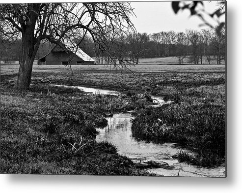 Barn Metal Print featuring the photograph Just Of The Road To Franklin by Tamara Gentuso