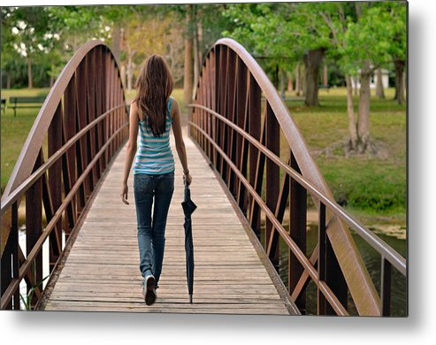 Walk Metal Print featuring the photograph Just Walk Away Renee by Laura Fasulo