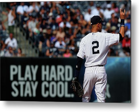 People Metal Print featuring the photograph Kansas City Royals V New York Yankees by Elsa