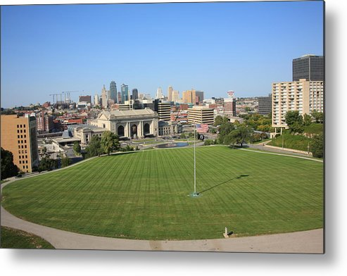 America Metal Print featuring the photograph Kansas City Skyline And Park by Frank Romeo