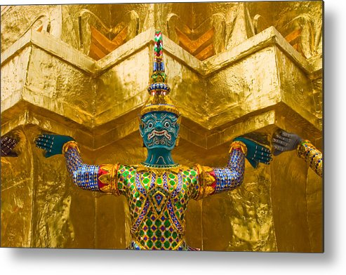 3scape Metal Print featuring the photograph Khon Guard by Adam Romanowicz
