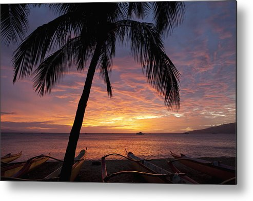 Coastline Metal Print featuring the photograph Kihei Sunset by David Olsen