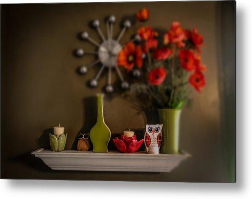Shelf Metal Print featuring the photograph Kitchen Shelf by Michael Demagall