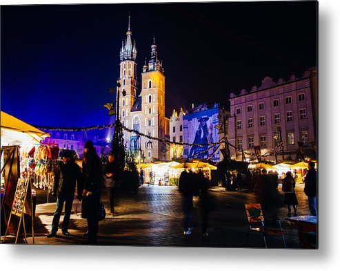 Mary Metal Print featuring the photograph Krakow By Night by Pati Photography
