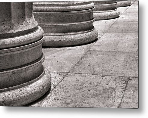 Columns Metal Print featuring the photograph Krepis And Stylobates by Olivier Le Queinec