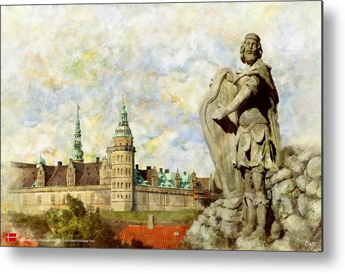 Denmark Art Metal Print featuring the painting Kronborg Castle by Catf