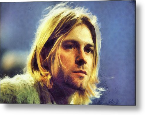 Kurt Cobain Metal Print featuring the digital art Kurt Cobain by Martin Deane