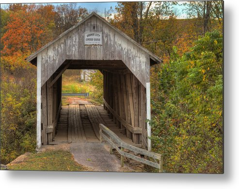 Hillsboro Metal Print featuring the photograph Ky Hillsboro Or Grange City Covered Bridge by Jack R Perry