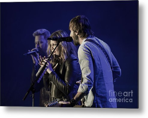 County Music Metal Print featuring the photograph Lady Antebellum by Debbie D Anthony